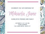 18th Birthday Invitation Templates Free Download 18 Birthday Invitation Templates orderecigsjuice Info