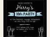 18th Birthday Invitations Male 18th Birthday Invitations Boys Chalkboard