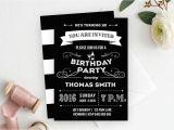 18th Birthday Invitations Male Male Birthday Invitation Male Birthday Adult Birthday