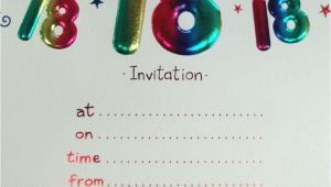 18th Birthday Party Invitation Templates Free 18 Birthday Invitation Templates 18th Birthday