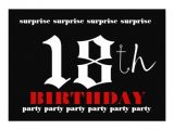 18th Birthday Party Invitations Free 18th Surprise Birthday Party Invitation Template 13 Cm X