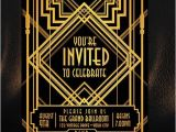 1920s Party Invitation Template Free 17 Best Images About Gatsby Invitation On Pinterest Art