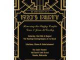 1920s Party Invitation Template Free 1920 39 S Gatsby Invite 5 Quot X 7 Quot Invitation Card Zazzle