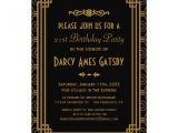 1920s Party Invitation Template Free Personalized Roaring 20s Invitations Custominvitations4u Com