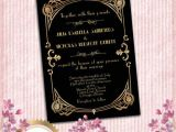 1920s Style Party Invitations Great Gatsby Style Art Deco Wedding Invitation 1920 S