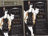 1920s Style Party Invitations Hens Night Great Gatsby 1920s Flapper Bridal Shower
