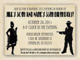 1920s Style Party Invitations Roaring 1920 S Flapper and Gangter Birthday Invitation