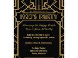 1920s themed Birthday Invitations 1920 39 S Gatsby Invite Invitation Cards 1920s and Invitations