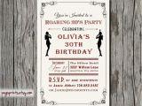 1920s themed Birthday Invitations Roaring 20s Invitation Printable 1920s Invitations