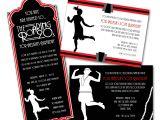 1920s themed Birthday Invitations Speakeasy Prohibition theme On Pinterest Speakeasy Decor
