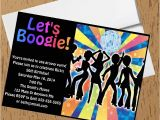 1970s Party Invitations 1970s Disco Dance Birthday Party Invitations Crafty