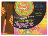 1970s Party Invitations 1970s Disco Sweet 16 Invitation Bellbottoms Record Album