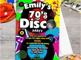 1970s Party Invitations 70s Birthday Party Invitations Collection On Ebay