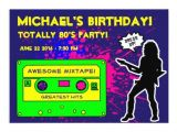1980s Birthday Party Invitations 1980 39 S Birthday Party Invitation Zazzle
