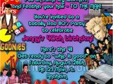 1980s Birthday Party Invitations 80 39 S Birthday Party Invitations Favor 1980 39 S Custom