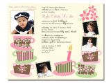 1st Birthday and Baptism Combined Invitations Pretty In Prints Prettyinprints Tea Party