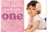 1st Birthday and Baptismal Invitation Wordings 1st Birthday and Baptism Invitations 1st Birthday and