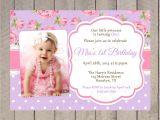 1st Birthday and Baptismal Invitation Wordings Christening 1st Birthday Invitations