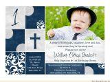 1st Birthday and Baptismal Invitation Wordings Christening Invitations Baptism Cards Dedication