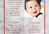 1st Birthday and Baptismal Invitation Wordings First Birthday Invitation Wordings for Baby Boy Yourweek
