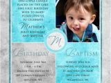 1st Birthday and Baptismal Invitation Wordings Square Baptism Invitations Christenings 1st Birthday