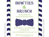 1st Birthday Brunch Invitations Bowties and Brunch Invitation Kateogroup