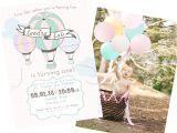 1st Birthday Brunch Invitations Landry 39 S Hot Air Balloon First Birthday Brunch Style