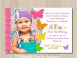 1st Birthday butterfly Invitation Wording Birthday Invites butterfly Birthday Invitations Free