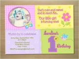 1st Birthday butterfly Invitation Wording butterfly 1st Birthday Invitation Digital File Printing