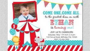 1st Birthday Carnival Invitations Circus Birthday Invitation 1st Birthday Circus Party