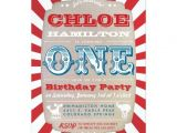 1st Birthday Carnival Invitations First Birthday Circus Carnival Party Invitation Zazzle