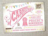 1st Birthday Carnival Invitations Items Similar to Kids Birthday Party Carnival Birthday