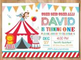 1st Birthday Carnival themed Invitations 17 Best Images About Circus First Birthday On Pinterest
