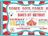 1st Birthday Carnival themed Invitations Carnival Birthday Party Invitations Carnival Birthday