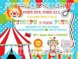 1st Birthday Carnival themed Invitations Colorful Circus Birthday Invitation You Print Digital File