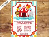 1st Birthday Carnival themed Invitations First Birthday Carnival Invite Circus Invitation Carnival