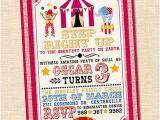 1st Birthday Carnival themed Invitations Step Right Up Circus Invitation Circus themed Party Circus