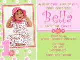 1st Birthday Invitation Card Wordings 1st Birthday Invitations Girl Free Template Baby Girl 39 S