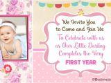 1st Birthday Invitation Card Wordings Unique Cute 1st Birthday Invitation Wording Ideas for Kids