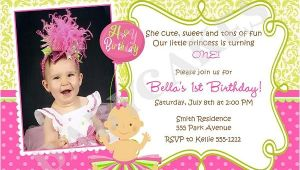 1st Birthday Invitation Example First Birthday Invitation Wording and 1st Birthday