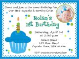 1st Birthday Invitation Example First Birthday Invitation Wording – Bagvania Free