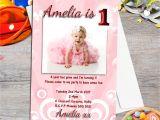 1st Birthday Invitation Frames 10 Personalised Girls First Birthday Party Photo
