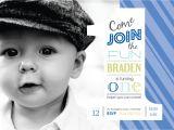 1st Birthday Invitation Ideas for A Boy Off 1st Birthday Boys Photo Invitation Digital File