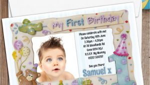 1st Birthday Invitation Photo Frames 10 Personalised First 1st Birthday Party Frame