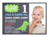 1st Birthday Invitation Photo Frames Boys Dinosaur Chalkboard Birthday Invitation