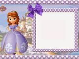 1st Birthday Invitation Photo Frames sofia the First Free Printable Invitations Cards or