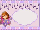 1st Birthday Invitation Photo Frames sofia the First Party Invitation Template sofia the First
