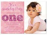 1st Birthday Invitation Sample 1st Birthday and Baptism Invitations 1st Birthday and