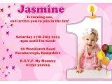 1st Birthday Invitation Sms for Baby Boy 1st Birthday Invitations Girl Free Template Baby Girl 39 S