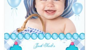 1st Birthday Invitation Sms for Baby Boy Baby Boy First Birthday 1st Cupcakes Blue Invitation Zazzle